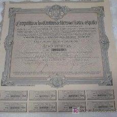Coleccionismo Acciones Españolas: COMPAÑIA DE LOS CAMINOS DE HIERRO DEL NORTE DE ESPAÑA. Lote 7748172
