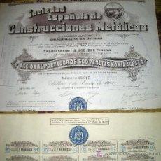 Coleccionismo Acciones Españolas: SOCIEDAD ESPAÑOLA DE CONSTRUCCIONES METALICAS -AÑO 1903. Lote 261604845