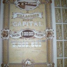 Coleccionismo Acciones Españolas: SOCIEDAD MINERA DE VILLAODRID - AÑO 1918. Lote 40750468