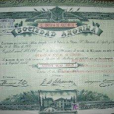 Coleccionismo Acciones Españolas: EL ANCORA DE ABECHUCO - AÑO 1903-. Lote 261604955