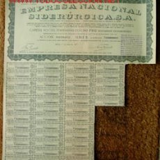Coleccionismo Acciones Españolas: ACCIÓN DE 1000 PTS: EMPRESA NACIONAL SIDERURGICA. MADRID, 1º DE ENERO DE 1957.. Lote 29247861