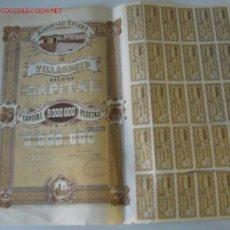 Coleccionismo Acciones Españolas: SOCIEDAD MINERA DE VILLAODRID 1918 .. BILBAO. Lote 23600469