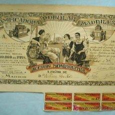 Coleccionismo Acciones Españolas: ACCIÓN PANIFICADORA POPULAR MADRILEÑA. Lote 3049671