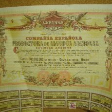 Coleccionismo Acciones Españolas: ACCION DE COMPAÑIA ESPAÑOLA PRODUCTORA DE ALGODON NACIONAL.1956.CUPONES. Lote 11247158