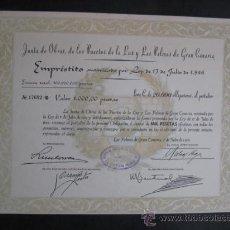 Coleccionismo Acciones Españolas: ACCION JUNTA DE OBRAS PUERTO DE LA LUZ Y LAS PALMAS. CANARIAS.1951. ENVIO GRATIS¡¡¡. Lote 20849682