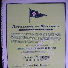 Coleccionismo Acciones Españolas: ASTILLEROS DE MALLORCA - JAVIER DE LA ROSA. Lote 26242020