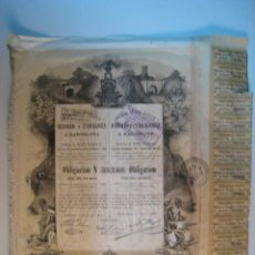 Coleccionismo Acciones Españolas: ACCION FERROCARRILES MADRID Y ZARAGOZA A BARCELONA 1883. Lote 10233369