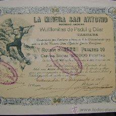 Colecionismo Ações Espanholas: LA MINERA SAN ANTONIO - (PADUL Y DÍLAR, GRANADA). Lote 25538836