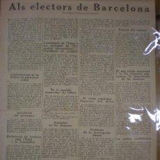 Coleccionismo Acciones Españolas: ALS LECTORS DE BARCELONA. BARCELONA, 1933. LLIGA CATALANA.. Lote 26906939