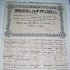 Coleccionismo Acciones Españolas: ACCION COMPESACIONES Y REPRESENTACIONES, S.A C Y R S A. Lote 221538181