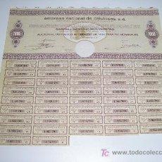 Coleccionismo Acciones Españolas: ACCION EMPRESA NACIONAL DE CELULOSA, S.A 1972. Lote 105896327