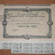 Coleccionismo Acciones Españolas: ACCIÓN. HILATURAS CARALT-PÉREZ,S.A.- BARCELONA 1920.. Lote 13834397