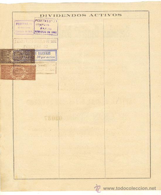 Coleccionismo Acciones Españolas: 1891 ANTIQUISIMA Y RARA ACCION DE 250 PESETAS SOCIEDAD GENERAL MALLORQUINA MALLORCA BALEARES Nº2037 - Foto 2 - 22756202