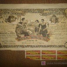 Coleccionismo Acciones Españolas: ACCION PANIFICADORA POPULAR MADRILEÑA. MADRID 1 DE DICIEMBRE DE 1916. Lote 14042435
