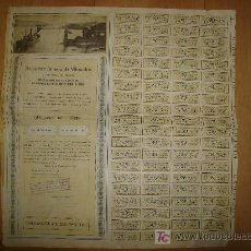 Coleccionismo Acciones Españolas: SOCIEDAD MINERA DE VILLAODRID. 1921 BILBAO CON CUPONES. Lote 14042980
