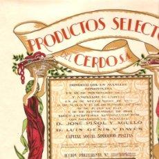 Coleccionismo Acciones Españolas: ACCION DE LA EMPRESA PRODUCTOS SELECTOS DEL CERDO S.A. MANLLEU. Lote 14780613
