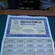 Coleccionismo Acciones Españolas: ACCIONES ACCION HERCULES FILMS S.A. MADRID 1942. Lote 27173574