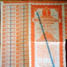 Coleccionismo Acciones Españolas: DEUDA AMORTIZABLE DEL ESTADO. Lote 18834644