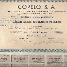 Coleccionismo Acciones Españolas: COPELO SA 1946. Lote 16880010
