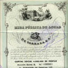 Coleccionismo Acciones Españolas: MINA PUBLICA DE AGUAS DE TARRASA - ACCIÓN Nº 8323 - 1940. Lote 25853935