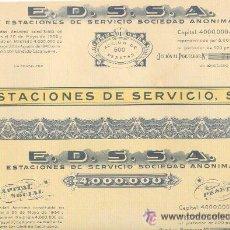Coleccionismo Acciones Españolas: BONITA ACCIÓN 500 PTAS. 1940 E.D.E.S.A. (MADRID) CON 30 CUPONES.. Lote 23136142