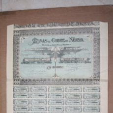 Collectionnisme Actions Espagne: ACCIONES DE S.S. MINAS DE COBRE DE NERVA. 1906. Lote 18715548