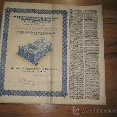 Coleccionismo Acciones Españolas: ACCION 500 PESETAS. MADRID 1935- CONSTRUCCIONES RURALES S.A. INMOBILIARIA. Lote 103130680