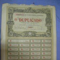 Coleccionismo Acciones Españolas: ACCION AL PORTADOR DE 500 PTS COMPAÑIA DE LOS FERROCARRILES ANDALUCES, MADRID 1924. Lote 26632413
