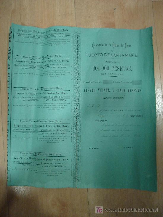 ACCION DE LA PLAZA DE TOROS DEL PUERTO DE SANTA MARIA. 1877. (Coleccionismo - Acciones Españolas)