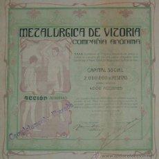 Collezionismo Azioni Spagnole: METALÚRGICA DE VITORIA, ÁLAVA (1900). Lote 27495645