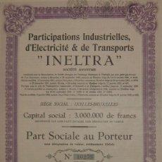 Coleccionismo Acciones Españolas: INELTRA, TRANVÍAS ELÉCTRICOS DE TENERIFE, ISLAS CANARIAS (1929). Lote 26454656