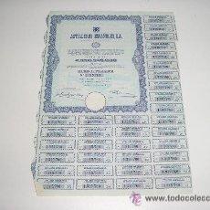 Coleccionismo Acciones Españolas: ASTILLEROS ESPAÑOLES ACCION AÑO 1970. Lote 105896318