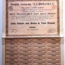 Coleccionismo Acciones Españolas: LA ROMANILLA. Lote 22643478