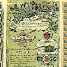 Coleccionismo Acciones Españolas: AZUCARERA ALAVESA SOCIEDAD ANONIMA - AÑO 1900. Lote 98487680