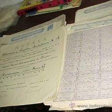 Coleccionismo Acciones Españolas: 25 ACCIONES DE HYTASA. HILATURAS Y TEJIDOS ANDALUCES S.A. CON 30 HOJAS DE CUPONES. AÑO 1967. Lote 27455284