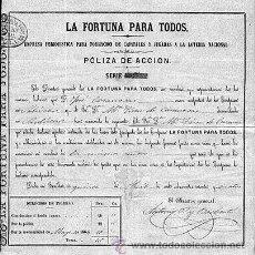 Coleccionismo Acciones Españolas: ACCIÓN DE SEVILLA. LA FORTUNA PARA TODOS. 1864.. Lote 23981695