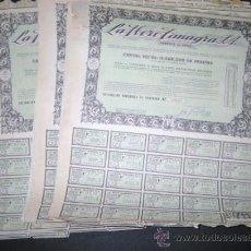 Coleccionismo Acciones Españolas: LOTE DE 30 ACCIONES. LA IBERO TRANGA. FABRICA DE LOZA . SANTANDER. 1960. . ENVIO GRATIS¡¡¡. Lote 27347704