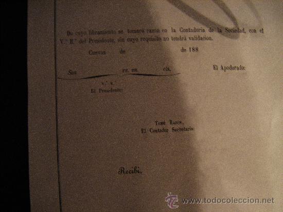 Coleccionismo Acciones Españolas: REPARTO DE ACCION S.E.MINERA LA GLORIA. SIERRA ALMAGRERA. CUEVAS DEL ALMANZORA. ALMERIA. 188- - Foto 2 - 28600165