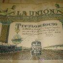 Coleccionismo Acciones Españolas: TITULO DE SOCIO DE LA UNION SOCIEDAD DE MAQUINISTAS Y FOGONEROS. FERROCARRILES ESPAÑOLES. Lote 27665364