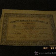 Coleccionismo Acciones Españolas: COMPAÑIA AUXILIAR DE LA PANIFICACION S.A.. Lote 27942054