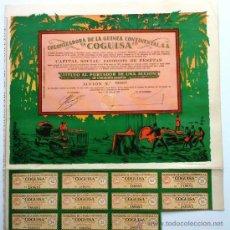Coleccionismo Acciones Españolas: COLONIZADORA DE LA GUINEA CONTINENTAL, S. A.. Lote 261611000