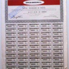 Collectionnisme Actions Espagne: CERVEZAS BARCELONA S. A.. Lote 21121798