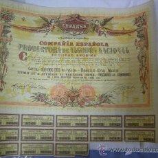 Coleccionismo Acciones Españolas: ACCION AL PORTADOR DE 1.000 PESETAS - CEPANSA - C.E.P. ALGODON NACIONAL - LA ALGODONERA - CÓRDOBA. Lote 29119493