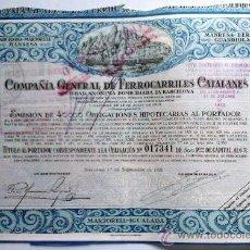 Coleccionismo Acciones Españolas: F. C. BARCELONA - MARTORELL - MANRESA - BERGA - GUARDIOLA. Lote 198986123