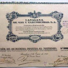 Coleccionismo Acciones Españolas: CATALANA DE GAS Y ELECTRICIDAD. S. A.. Lote 30019369