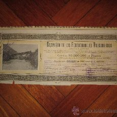 Coleccionismo Acciones Españolas: ACCIÓN COMPAÑÍA DE LOS FERROCARRILES VASCONGADOS. BILBAO, 1907. Lote 30754039