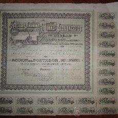 Coleccionismo Acciones Españolas: ACCIÓN MINAS DE ALCARACEJOS S.A. BILBAO, 1898. Lote 30754046