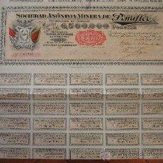 Coleccionismo Acciones Españolas: ACCIÓN S.A. MINERA DE PEÑAFLOR. BILBAO, 1901. Lote 30777752