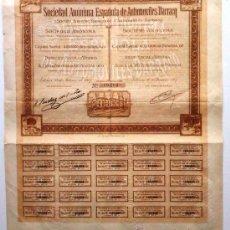 Coleccionismo Acciones Españolas: SOCIEDAD ANÓNIMA ESPAÑOLA DE AUTOMOVILES DARRACQ. Lote 30819205