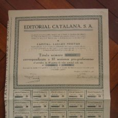 Coleccionismo Acciones Españolas: ACCIÓN EDITORIAL CATALANA S.A. BARCELONA, 1928. Lote 30823756